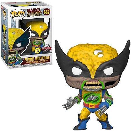 Funko Pop Marvel Zombies 662 Wolverine Zumbi GITD