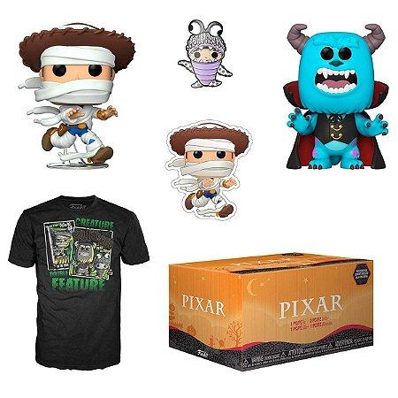 Funko Pop Collectors Box Pixar Halloween c/ 2 Pops e Camiseta GG
