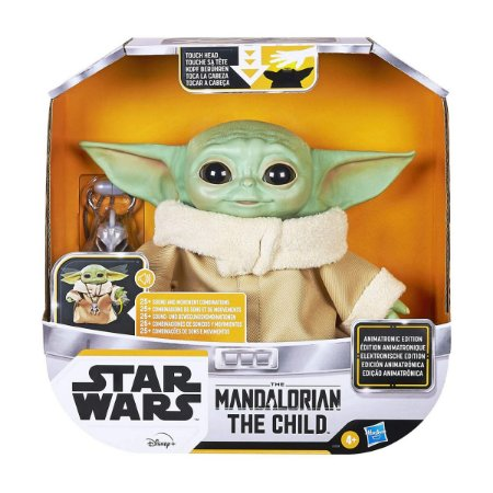 Boneco Interativo Star Wars Mandalorian Baby Yoda The Child Hasbro