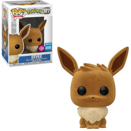 Funko Pop Pokemon 577 Eevee Flocked Limited Edition