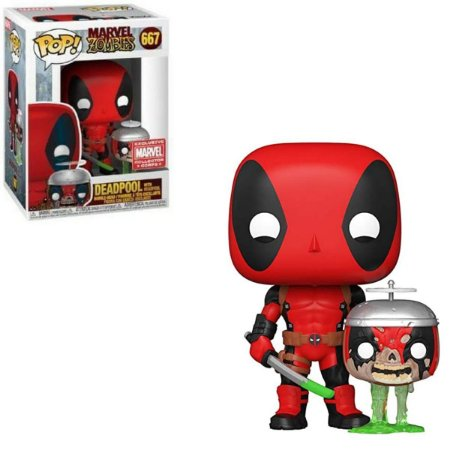 Funko Pop Marvel Zombies 667 Deadpool w/ Headpool