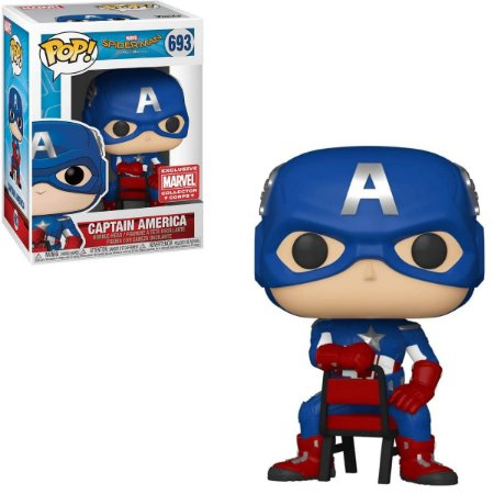Funko Pop Marvel Spider-Man 693 Captain America Exclusive