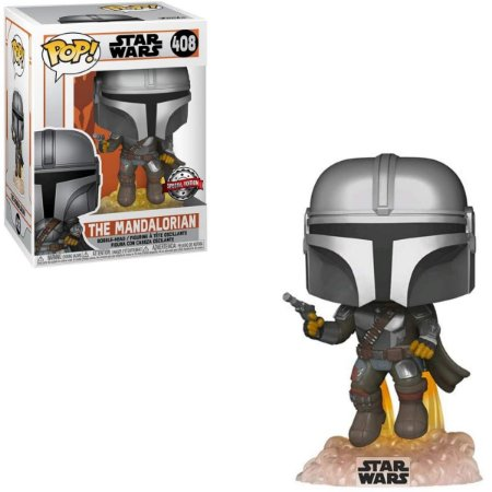 Funko Pop Star Wars 408 The Mandalorian Flying w/ Blaster Exclusive