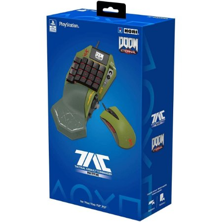 Mouse + Teclado Programável Hori TAC Pro Type M2 Doom Edition PS3/ PS4/ PC