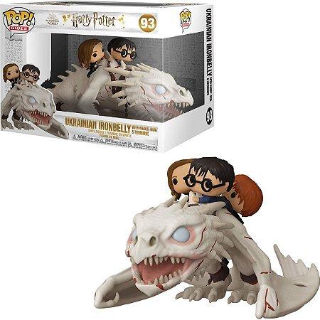 Funko Pop Harry Potter 93 Harry, Hermione e Ron Gringotts Dragon