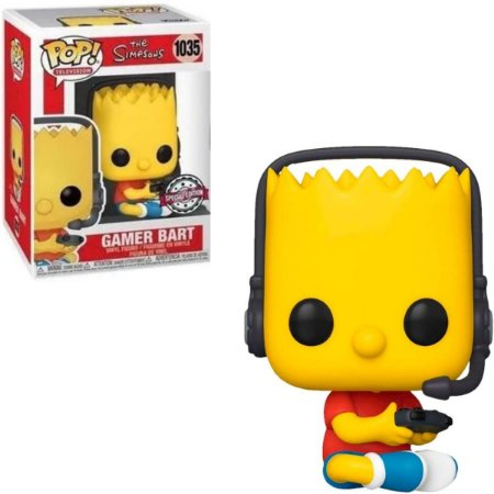 Funko Pop Simpsons 1035 Gamer Bart Special Edition