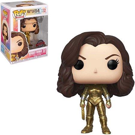 Funko Pop Ww84 332 Wonder Woman Golden Armor Exclusive