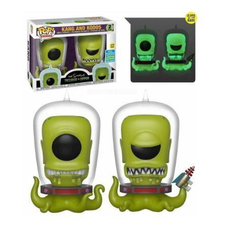 Funko Pop The Simpsons Kang And Kodos 2 Pack Glows in the Dark