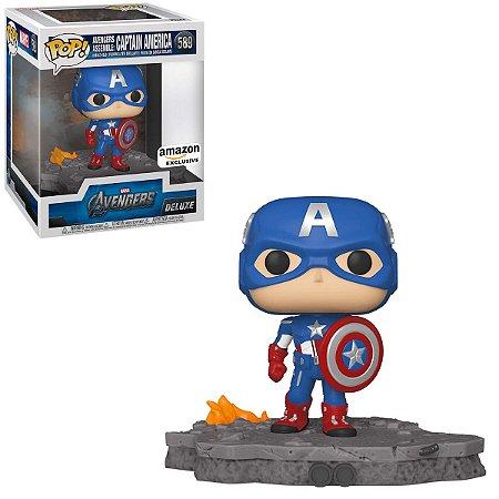 Funko Pop Marvel Avengers 589 Captain America Assemble Deluxe