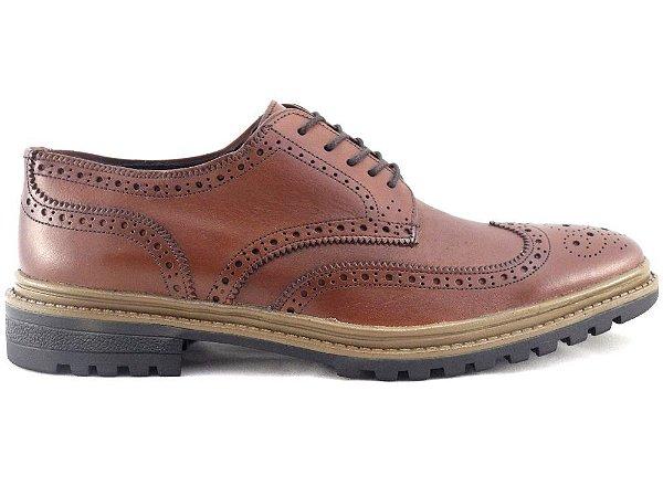 Sapato Brogue Couro Whisky Barcelona Design