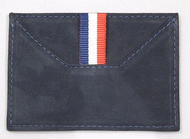 Porta Cartão Nobuck Marinho Barcelona Design