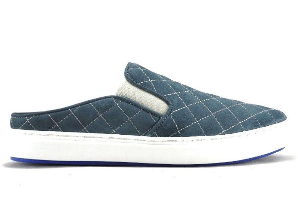 Tênis Mule Couro Matelasse Navy Barcelona Design