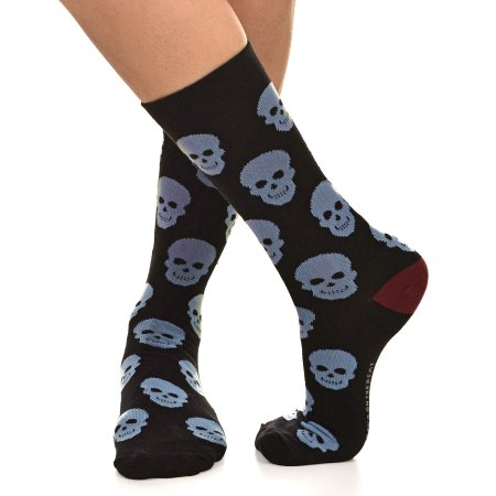 MEIA SOCKS ON THE BEAT - SKULL BLACK