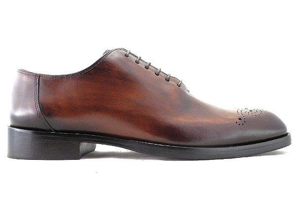 Sapato Masculino Oxford Couro Whisky Barcelona Design