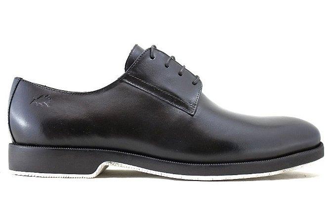 Sapato Masculino Derby Couro Preto Barcelona Design