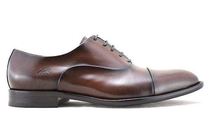 Sapato Masculino Oxford Couro Marrom Whisky Barcelona Design