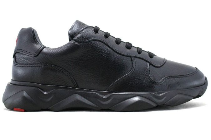 Tênis Sneakers Masculino Couro Preto Barcelona Design | Robust Bull