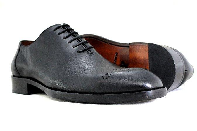 Sapato Masculino Oxford Couro Preto Barcelona Design