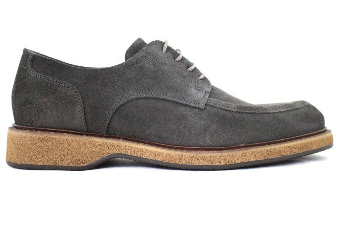Sapato Casual Masculino Couro Camurça Cinza Barcelona Design