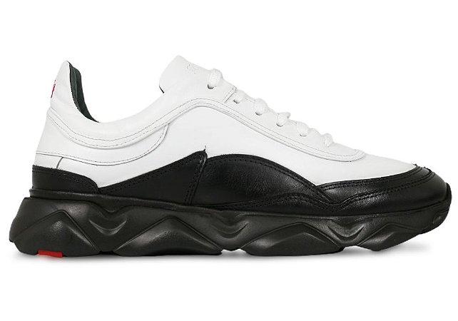 Tênis Sneakers Masculino Couro Branco/Preto Barcelona Design | Robust Bull