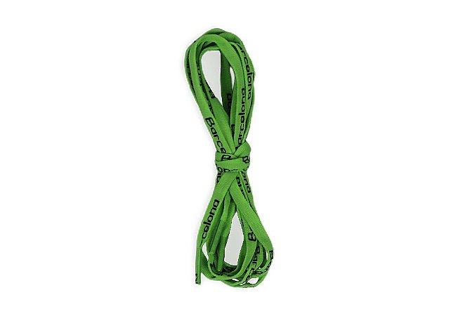Cadarço Achatado De Algodão Verde 1,10m Barcelona Design