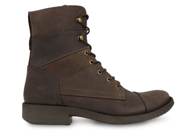 Bota Masculina Cano Alto Couro Chocolate Barcelona Design