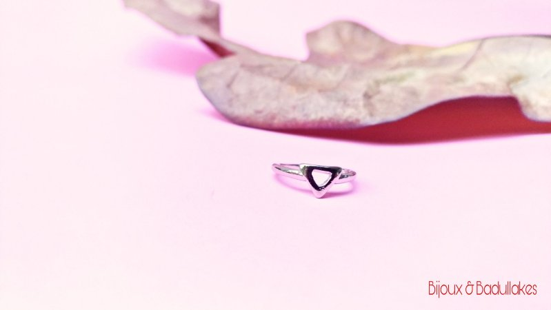 Anel prata slim triângulo falange