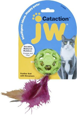 Brinquedo JW Gatos Feather Ball