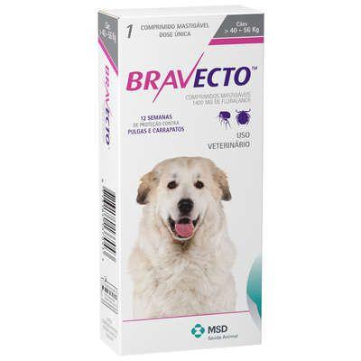 Antipulgas Bravecto 1400mg - Cães de 40-56 Kg