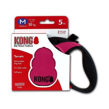 Guia Retrátil Cães Kong Terrain Retractable Leash Rosa