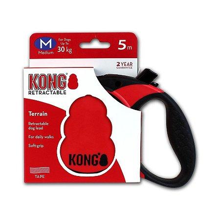 Guia Retrátil Cães Kong Terrain Retractable Leash Vermelho