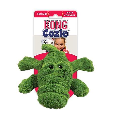 Pelucia Kong Cozie Ali Alligator Com Apito para Cães  GG