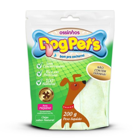 Petisco Chips Dog Pet's de Couro Bovino 100% Natural