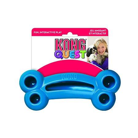 Brinquedo Recheável Kong Quest Bone para Cães