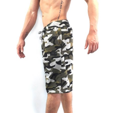 Bermuda de Moleton Bad Boy Full Print Verde -BBIPS10