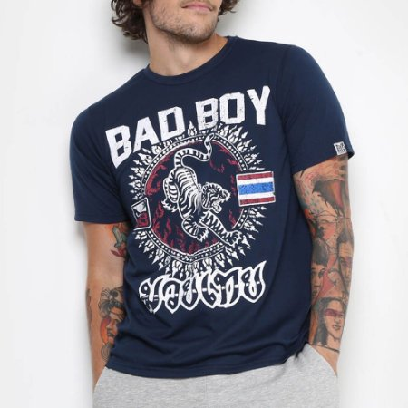 Camiseta Bad Boy Muay Thai Azul - CBBI03