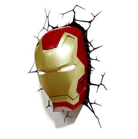 Luminária 3D Light FX Máscara Homem de Ferro