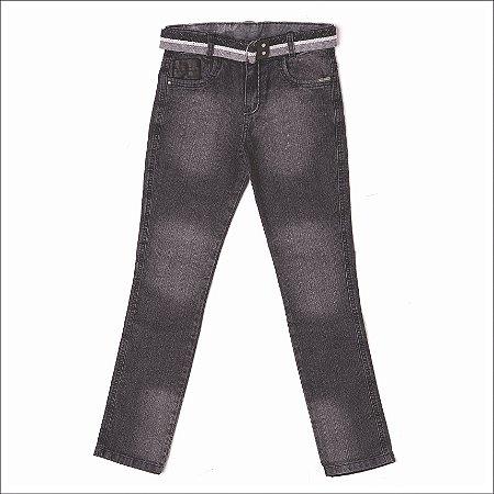 Calça Masculina Jeans Black Couro