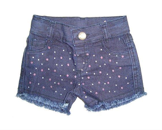 Shorts feminino bebê Jeans p ao g  Glitter Azul club e do doce