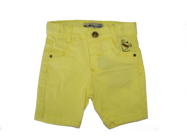 Bermuda Slim Sarja Color Amarelo