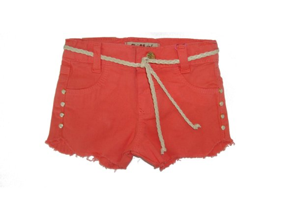 Shorts Slim Sarja Ondas Color Coral