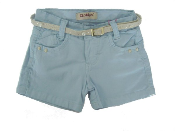 Shorts Regular Color Perolas Azul