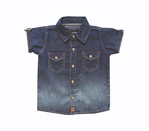 Camisa Masc. Jeans Degradê