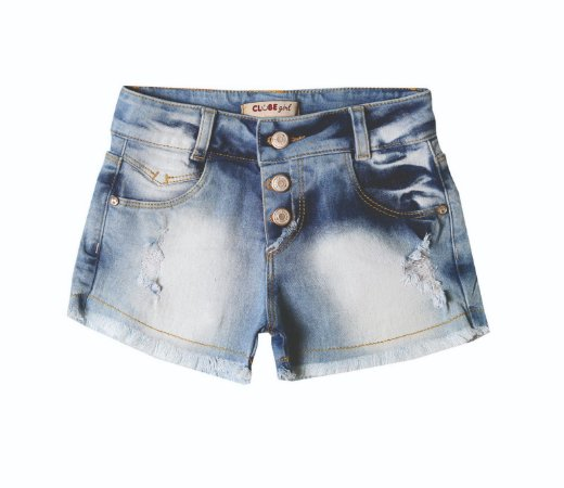 Shorts Regular Jeans Estiletes
