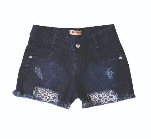 Shorts Regular Jeans Renda