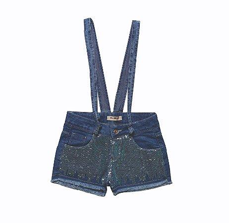 Shorts Regular Jeans c/Alças