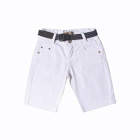 Bermuda Slim Branco Kids