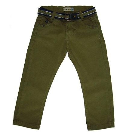 Calça Masc. Regular Sarja Color Boy Verde