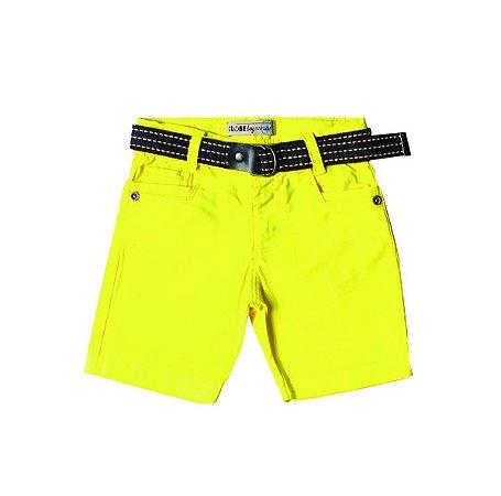 Bermuda Slim Sarja Colors Amarela