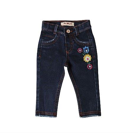 Calça Fem. Regular Jeans Flores